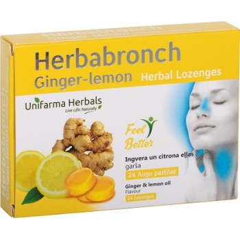 Herbabronch Ginger-lemon herbal lozenges N24