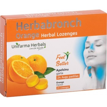 Herbabronch Orange herbal lozenges N24