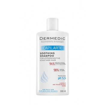 Dermedic Capilarte Shampoo Soothing For Sensitive, Irritated Scalp 300 ml