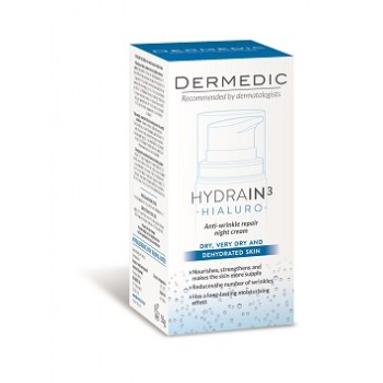 Dermedic Hydrain3 Hialuro Repair Anti-Wrinkle Night Cream 55 g