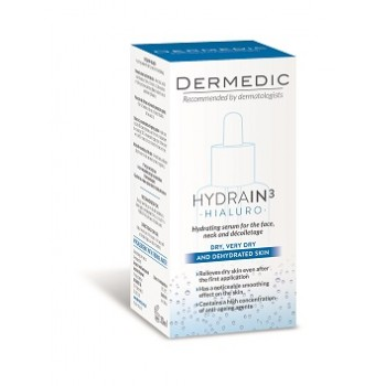 Dermedic Hydrain3 Hialuro Hydrating Serum For Face, Neck, Decoltage 30 ml