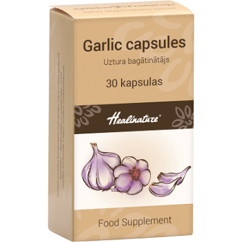 Healinature Ķiploku eļļa / Garlic oil kapsulas N30
