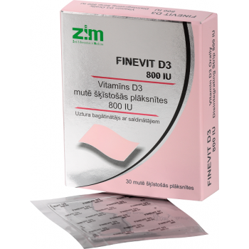 Finevit D3-STRIP 800IU N30 (vitamins D3)
