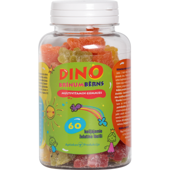 DINO BRINUMBERNS MULTIVITAMIN GUMMIES N60